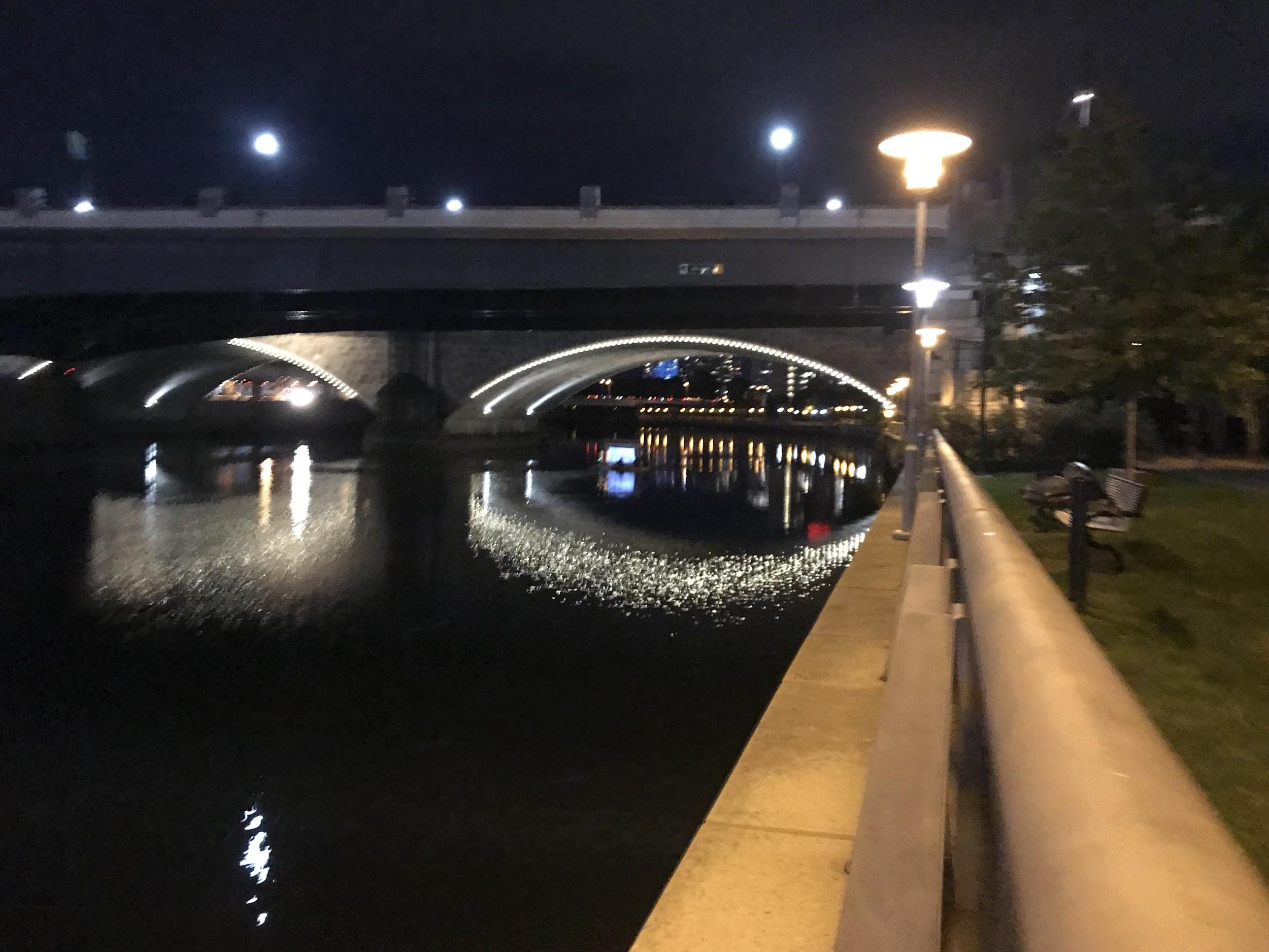 Schuylkill River at night