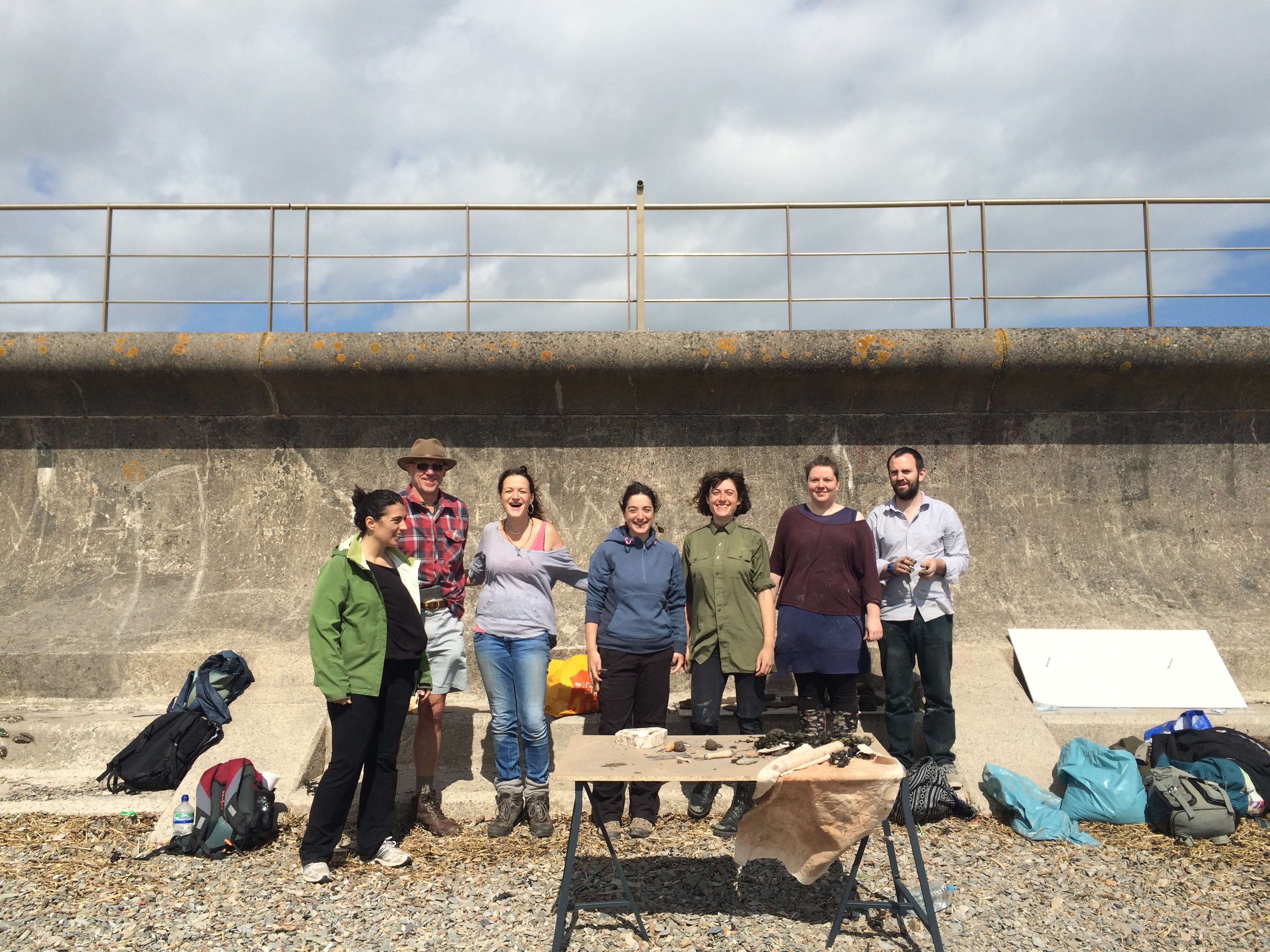 Participants at the 'Into the Mud' workshop, Severn Beach (2016). Photo by Marianna Dudley