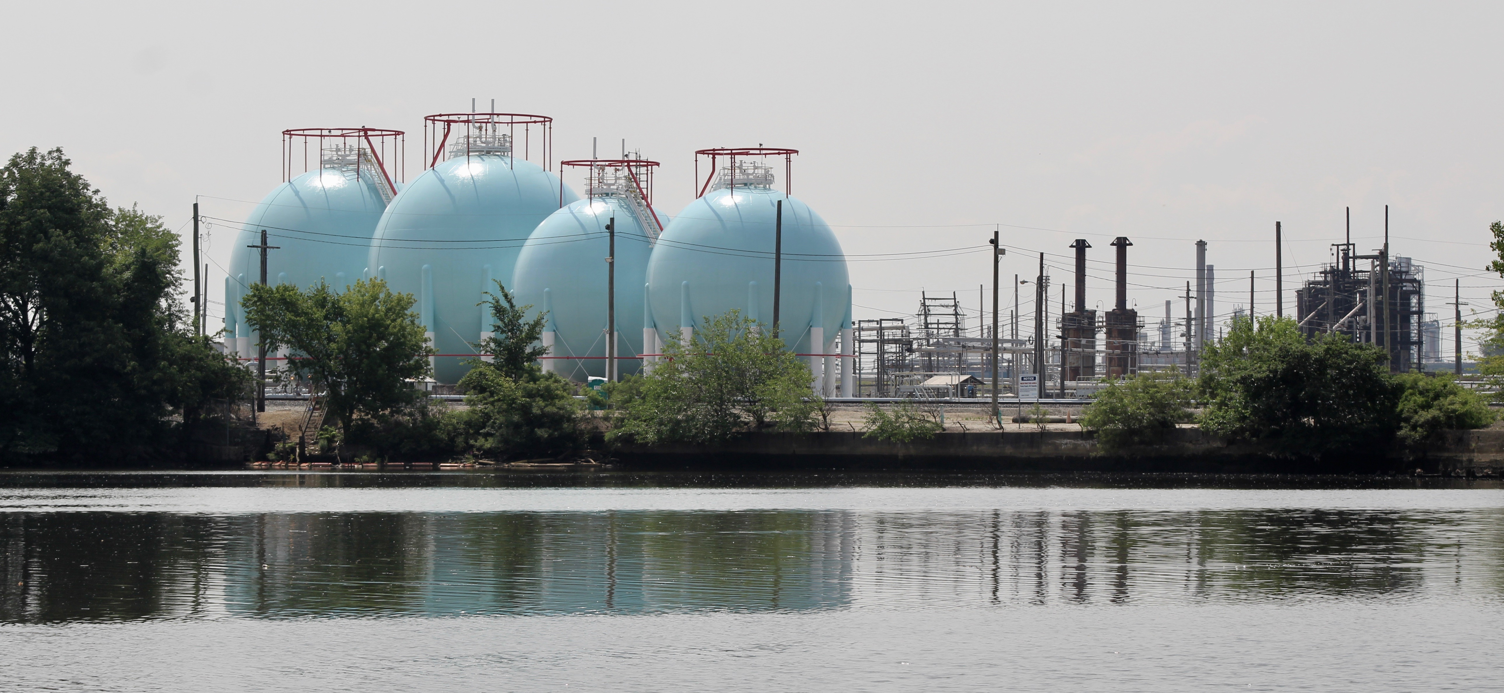 PES refinery from across the river