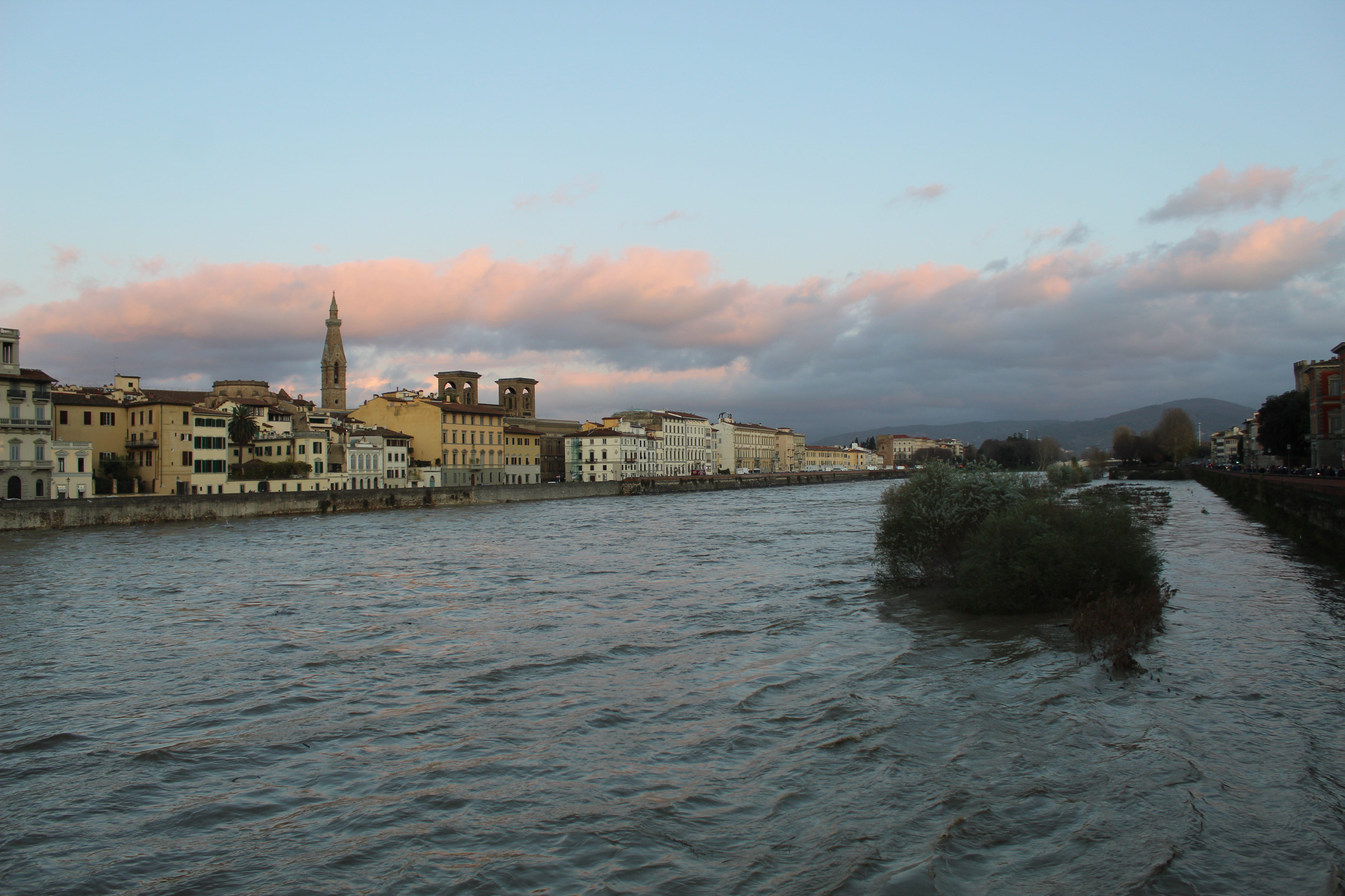 Arno River in winter