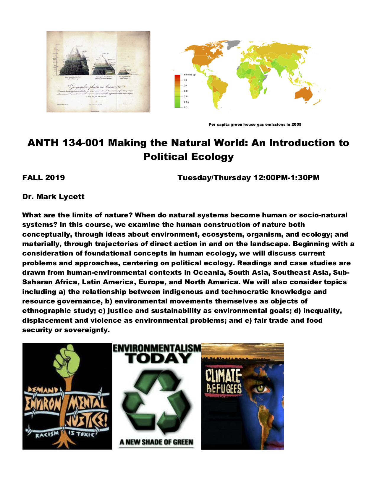 Making the Natural World Course Flyer