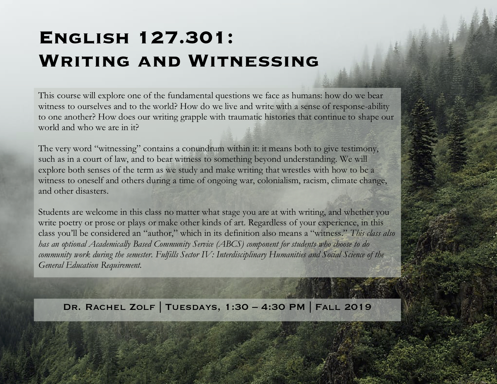 English 127 course description