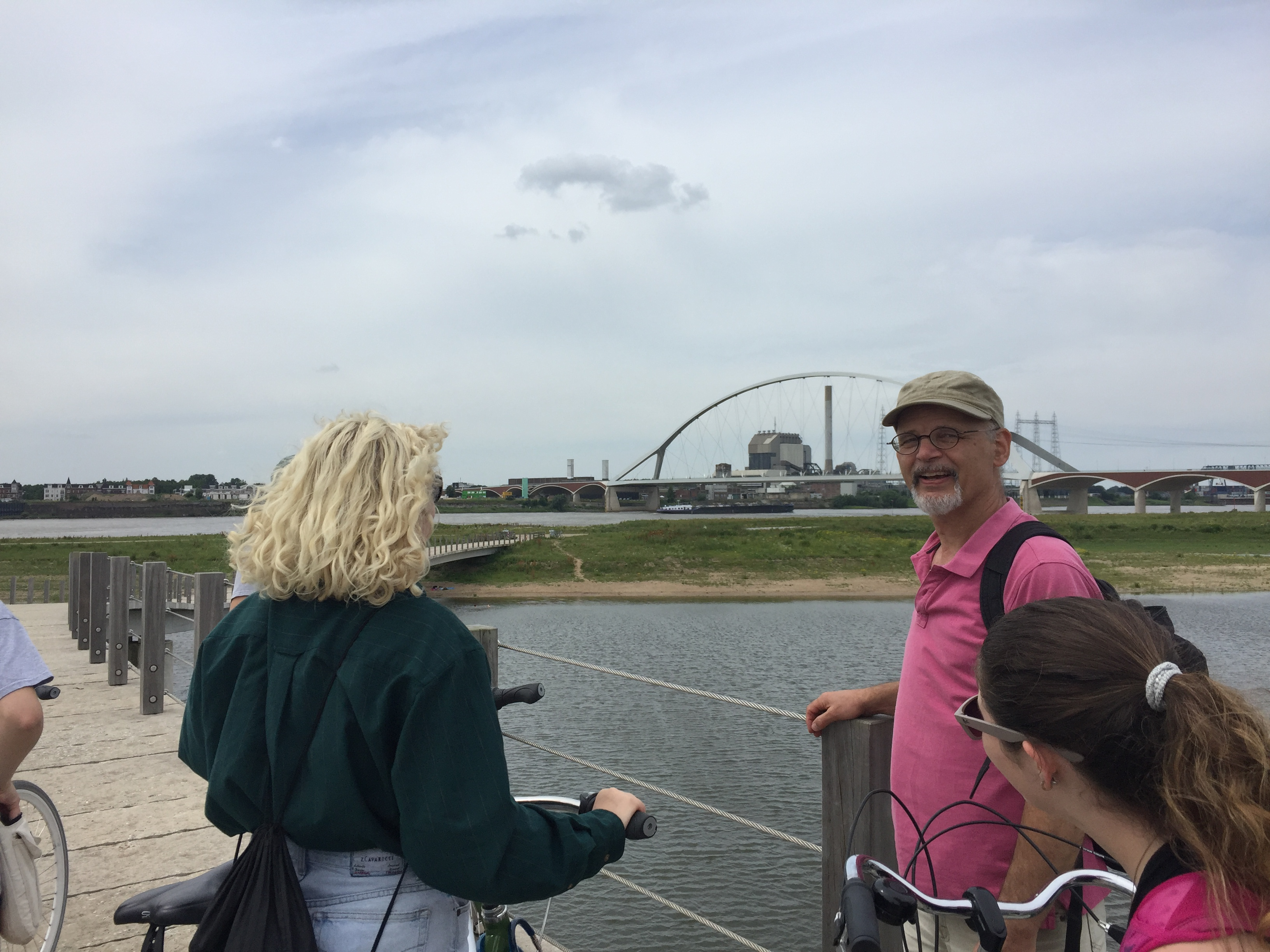 Professor Simon Richter on the banks of the Waal in Nijmegen