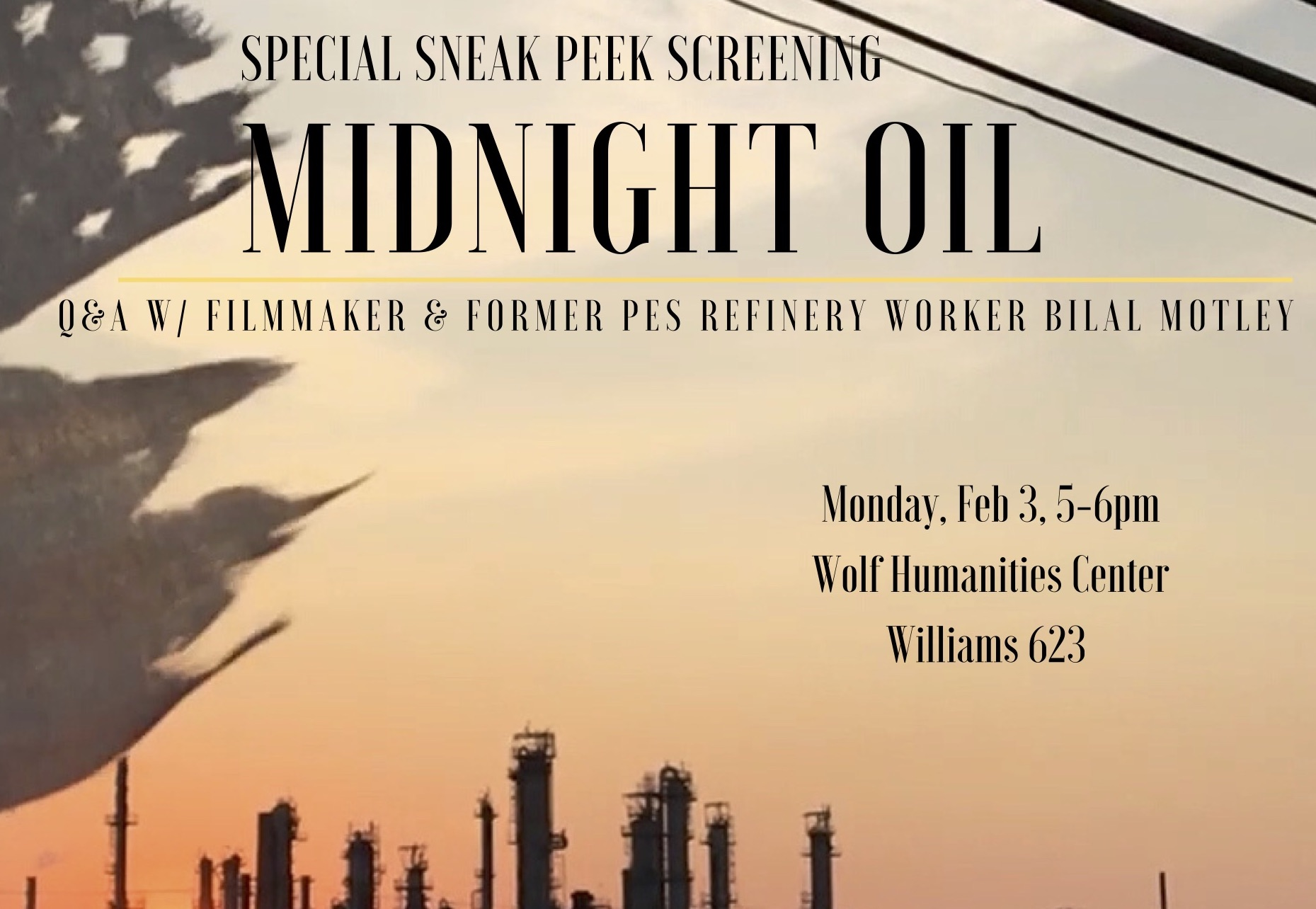 midnight oil screening poster