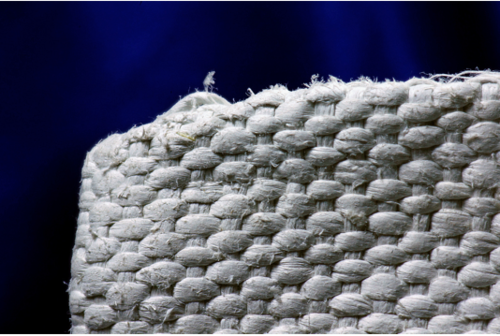 2. A basket woven out of asbestos fibers – a common practice before asbestos was found to be toxic