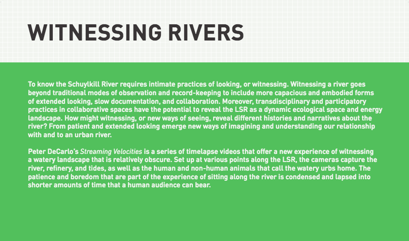 Witnessing Rivers