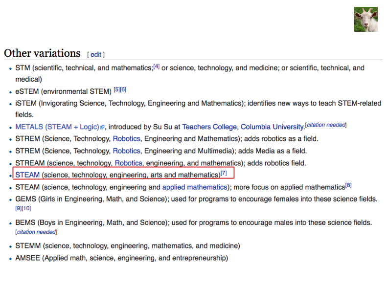 Stem/Steam Wikipedia Page