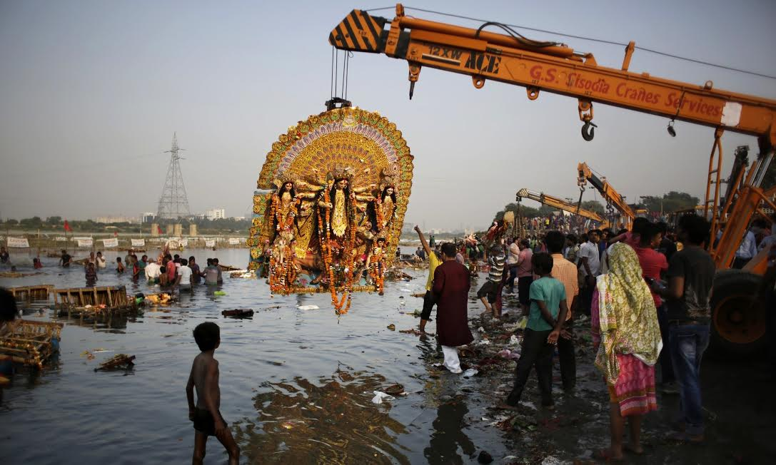 "The Ganges River. Qadri, Atlaf. & AP. ""Durga Puja festival on the Yamuna river, one of the rivers granted status of living human entities by the Uttarakhand court."" Found, The Guardian, 12 June 2017, https://www.theguardian.com/world/2017/mar/21/ganges-and-yamuna-rivers-granted-same-legal-rights-as-human-beings"