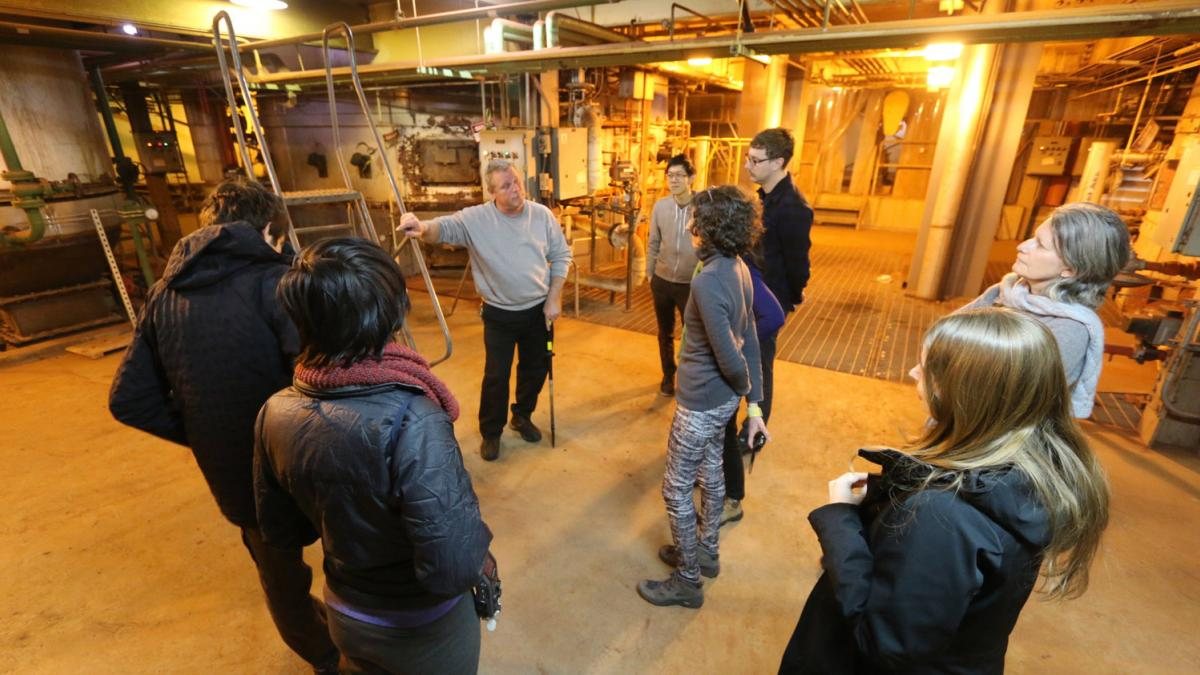 First Wastewater Walk with Lize Mogel, at the Stonybrook Sewage Authority facility in Princeton New Jersey, 2015. Photo by FICTILIS.