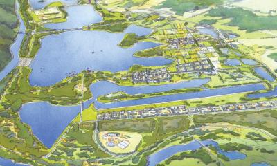 Artist rendering of Penrith Lakes, Sydney. Source: Daily Telegraph.