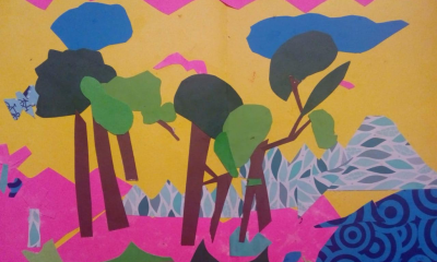 Pop-up book page designed by students at the Rural Educative Institute in Las Perlas, Puerto Guzmán