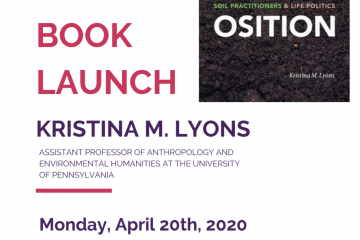 remote book launch poster