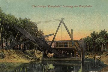 Historical photo of draining the Everglades