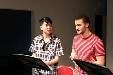 PPEH Undergraduate Fellows Carlos Price-Sanchez and Seung-Hyun Daniel Chung share their culminating project Paper Waters:Dreams at Slought, May 2018.