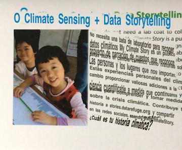 garbled translation into spanish of my climate story postcard