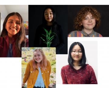 collage of public research interns