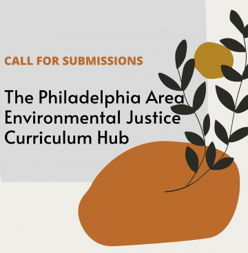 call for submissions flyer with leaves growing from a round shape